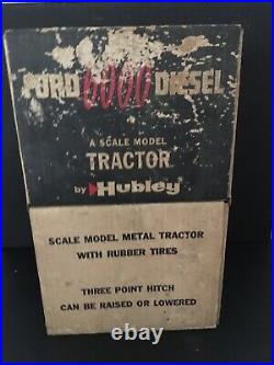 1/12 Vintage Red Ford 6000 Diesel Tractor by Hubley with Original Box