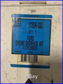 172DK-030 Ford 4000 800 900 Series 172 Diesel Overhaul Kit Pistons Tractor S1141