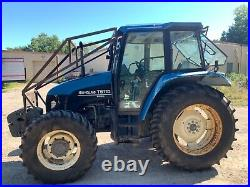 2002 New Holland Ford TS110 Cab Tractor 110HP 4WD 2,180 Hours Municipal