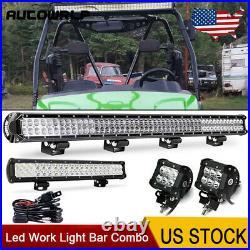 44+23 LED Work Light Bar+4 Pods+Wiring Combo For Arctic Cat ATV UTV 424020
