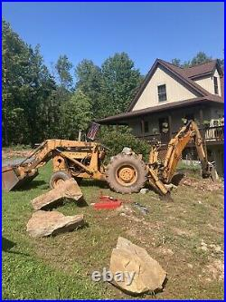 74 ford 4500 Diesel Front Loader Tractor. Runs and operates. Backhoe not Included