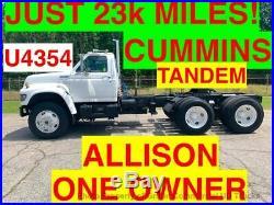 DAYCAB TANDEM TRACTOR JUST 23k MILES ONE OWNER CUMMINS ALLISON SPOTTER DUMP