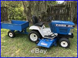 FORD LGT-14D DIESEL LAWN MOWER TRACTOR with UTILITY TRAILER