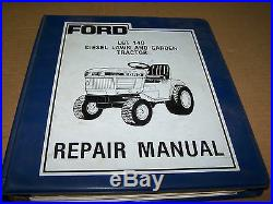 Ford Lgt 14d 16d Diesel Lawn Garden Tractor Service Manual