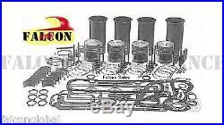 Ford Tractor 201 Diesel Engine 3 cylinder Rebuild Kit no liners withvalves