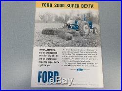 Fordson 2000 Super Dexta Diesel Farm Tractor Brochure lw