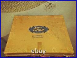 NOS Vtg Original FORD BRONCO II SPARE Wheel Tire Cover Vinyl Bucking Horse+Box