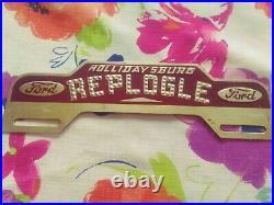 NOS Vtg Replogle FORD Dealer License Plate TOPPER Hollidaysburg Pa Model T