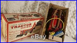 Tin Toy battery operated 1950's ALPS-JAPAN 4000 FORD TRACTOR DIESEL mint in box