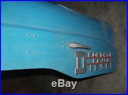 Vintage Fordson Major Diesel Tractor -emblems & Hood Assy -nice -1954