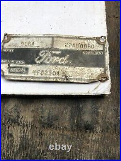 Wheel Caster 916A Tractor 1110 1210 1310 Mower Deck Ford 22AB0060 Diesel